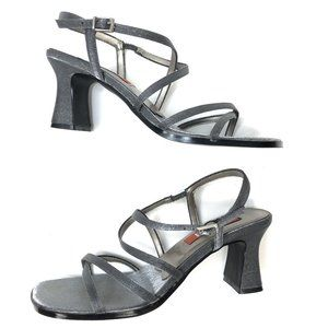 Vintage Unlisted | 90s Silver Sqaure Toe Sandal